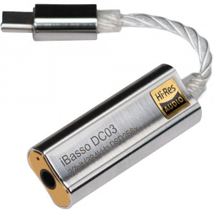 iBasso DC03 USB Type-C DAC 3,5mm fejhallgató kimenettel, ezüst-1