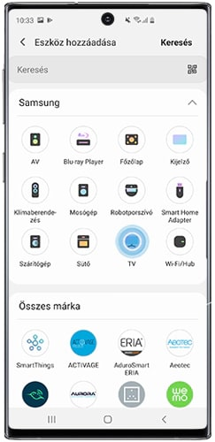 SmartThings applikáció