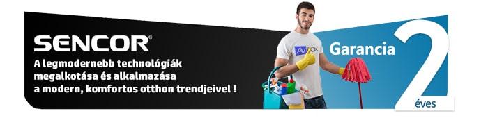 Sencor termékek 2 év gyári garanciával