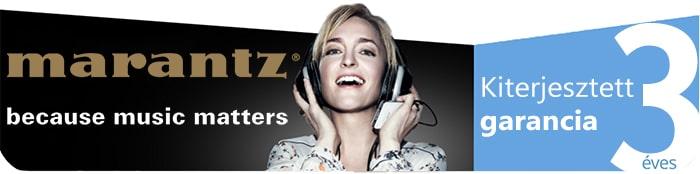 Marantz termékek 3 év gyártói garanciával